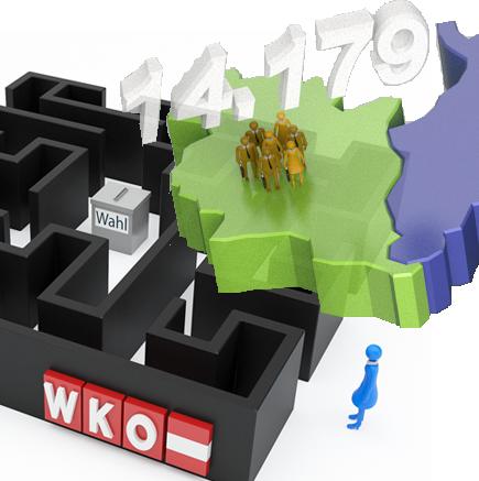 Wirtschaftskammerwahlen  Vorarlberg mit geringer Wahlbeteiligung © Illustration: www.corporate-interaction.com