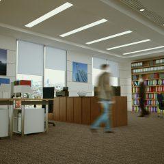 Die ergonomische Einrichtung von Büros erleichtert den Bürotag