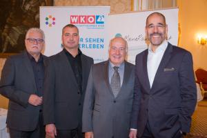 © Bild: Foto Weinwurm; vlnr: Erwin Stella, MBA; KommR Anton Koller, MSc; Mag. Thomas Schlatte, Dr. Martin Gruber
