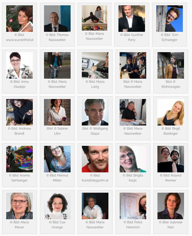 Best of Portraits - Unsere UnternehmerInnen haben 10 wichtige Eigenschaften und sehen 15 Vorteile