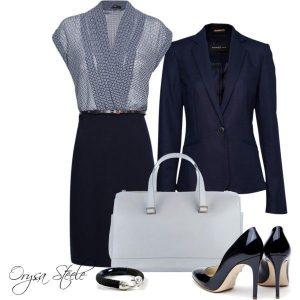 Business blau