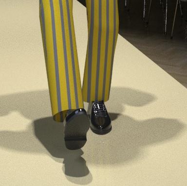 Schuhe-Laufsteg