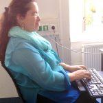 Manuela Tengler: Schriftdolmetscherin: … investiere sehr viel Zeit in meine Visionen