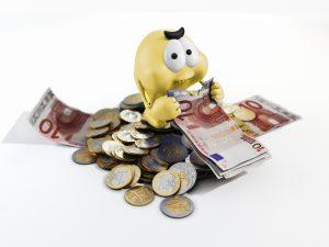 Geldfresser Gelb 1000