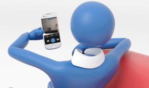 Unternehmer mit–Smartphone