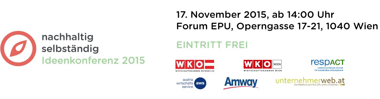 Veranstaltungshinweis: nachhaltig selbständig Ideenkonferenz