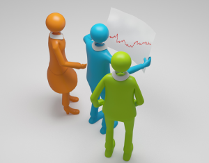 Unternehmer mit Chart