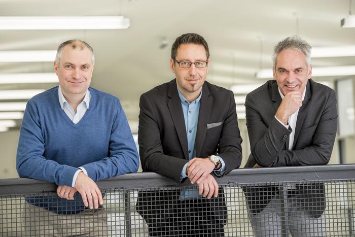 Harald Pfeiffer und Michael Frank, IT-Techniker: ... überdenken einmal pro Jahr unsere Arbeitsweise