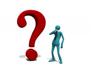 Unternehmer mit Fragezeichen