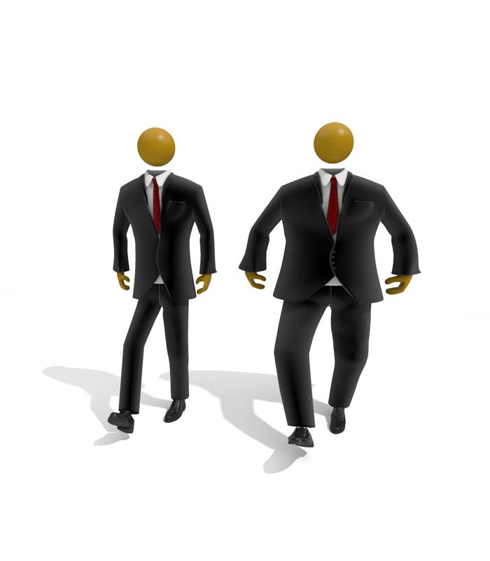Unternehmer-dick-duenn