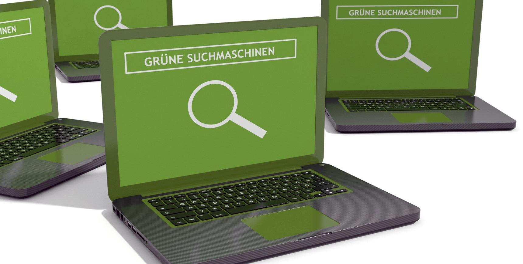 Gruene Suchmaschinen Illu