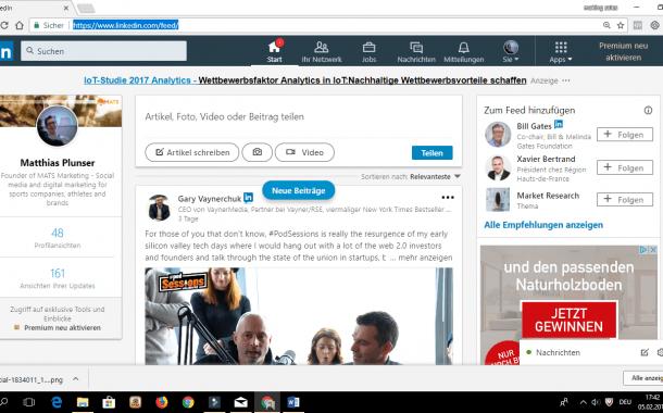 Personal Branding auf LinkedIn