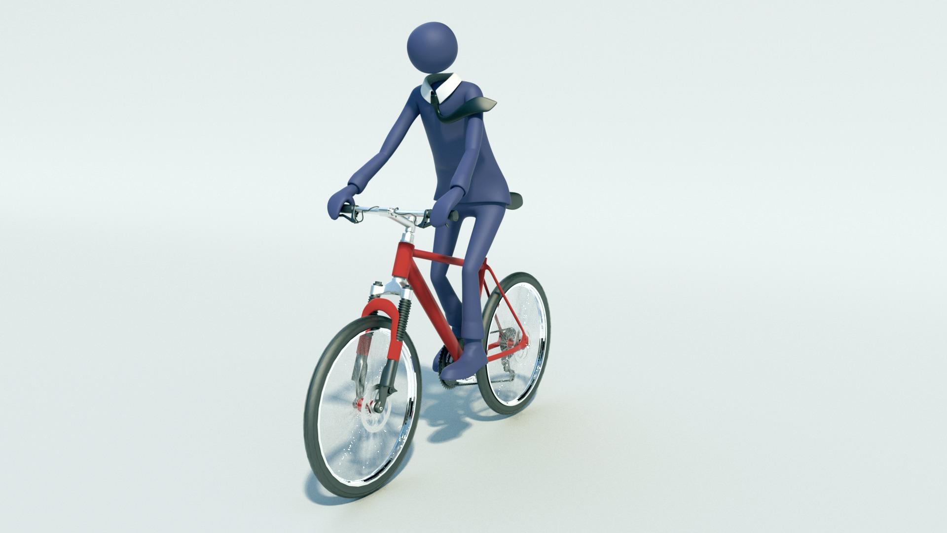 Unternehmer am Fahrrad